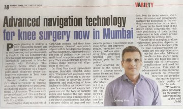 Advanced Navigation Technology for Knee Surgery now in Mumbai